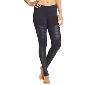 Alo High Waisted Moto Leggings Black Medium